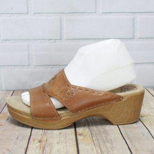 DANSKO Sunny Brown Slide Sandals Sz 40 US 9.5-10
